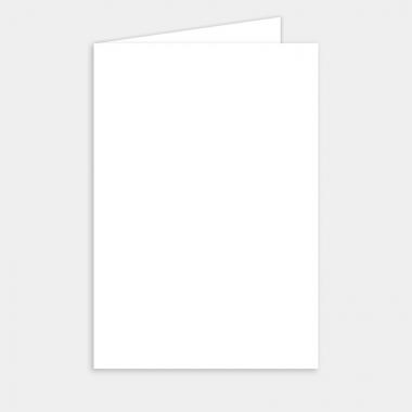 Menu mariage vierge - 9,7 x 14,5 cm