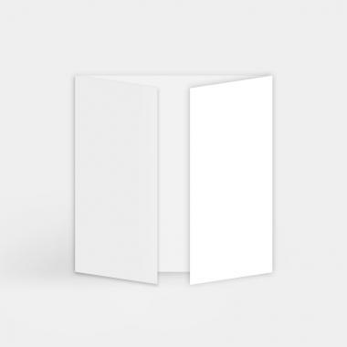 Faire-part vierge - triptyque carré (15 x 15 cm)