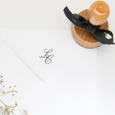 Tampon mariage Monogramme
