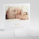 Faire-part de naissance Branche en or photo