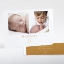 Faire-part de naissance Joli cœur doré 2 photos