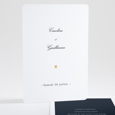 Faire-part de mariage Poudre d'or chic