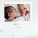 Remerciements naissance Remerciements d'or