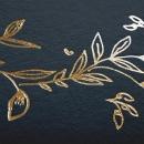 Faire-part de naissance Elégante couronne or
