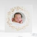 Faire-part de naissance Mon bijou photo or