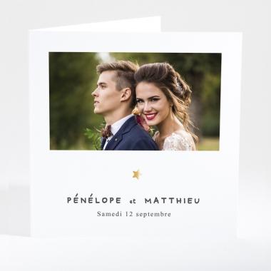 Faire-part de mariage Poudre d'or photo