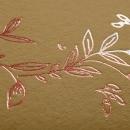 Faire-part de mariage Nature élégante cuivre