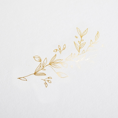 Faire-part de naissance Branche en or