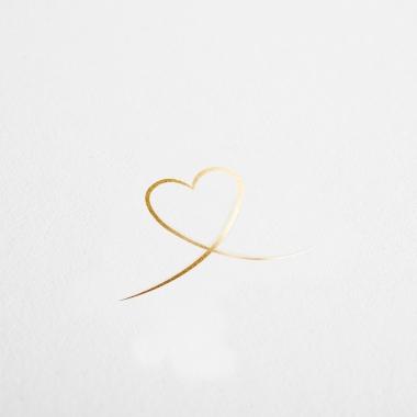 Faire-part de naissance Petit cœur doré
