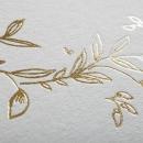 Faire-part de mariage Lune de miel dorée