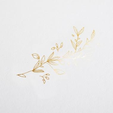 Faire-part de mariage Botanic gold chic