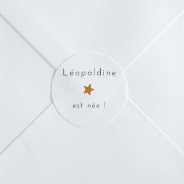 Stickers naissance Elégante étoile