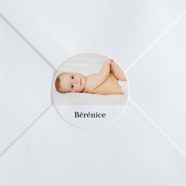 Stickers naissance Portrait