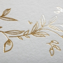 Remerciements naissance Elegante couronne or