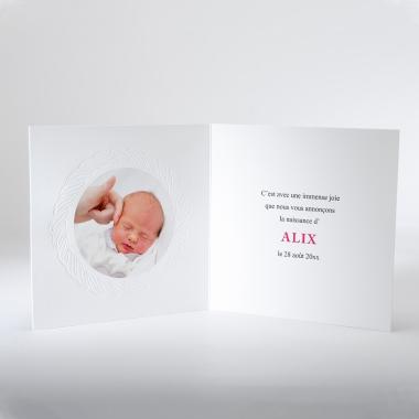 Faire-part de naissance Tresse délicate