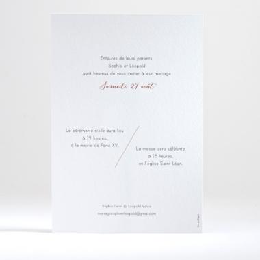 Faire-part de mariage Journée ensoleillée
