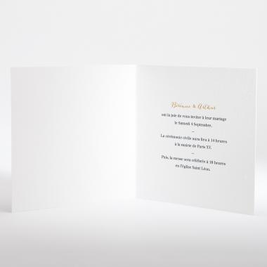 Faire-part de mariage Médaillon en or