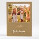 Carte de voeux Brindille dorée