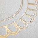 Carte de voeux Médaillon doré portrait