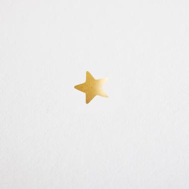 Carte de voeux Jolie étoile dorée