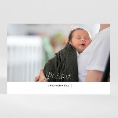 Faire-part de naissance Brut