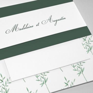 Faire-part de mariage Botanique