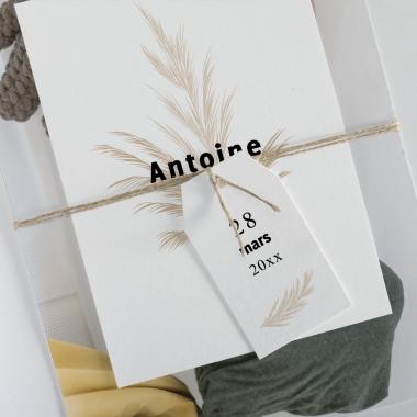 Faire-part de naissance Bouquet séché