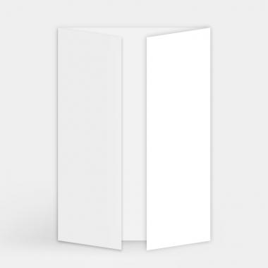 Faire-part vierge - Triptyque (15 x 21 cm)