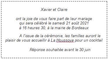 Texte Faire Part Mariage Faire Part Elégant