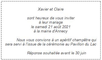 Texte Faire Part Mariage Faire Part Elegant